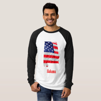 American Flag Alabama United States T-Shirt