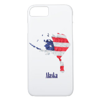 American Flag Alaska United States iPhone 8/7 Case