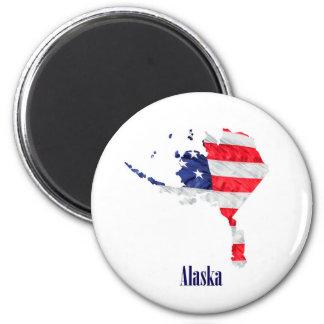 American Flag Alaska United States Magnet