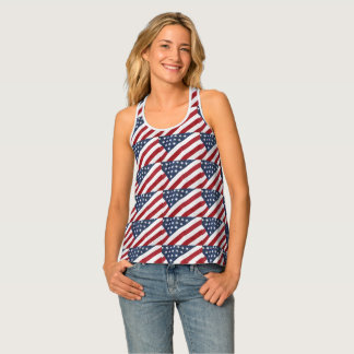 American Flag All Over Print Tank Top