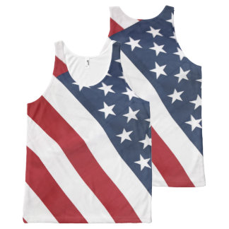 American Flag All Over Print Unisex Tank Top