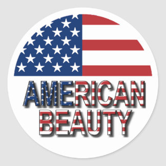 American Flag - American Beauty Sticker