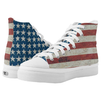 American Flag Americana Stars Stripes Sneakers