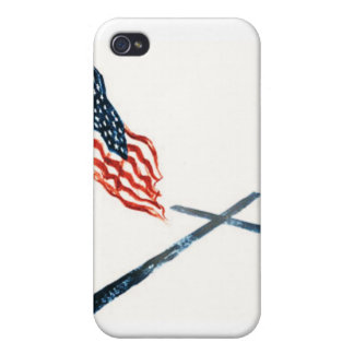 AMERICAN FLAG AND CROSS iPhone 4 CASES