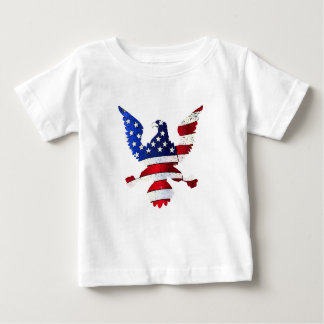 American Flag And Eagle Baby T-Shirt