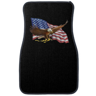 American Flag and Eagle Black Car and Truck Mats Car Liners