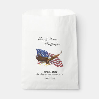 American Flag and Eagle Favour Bag