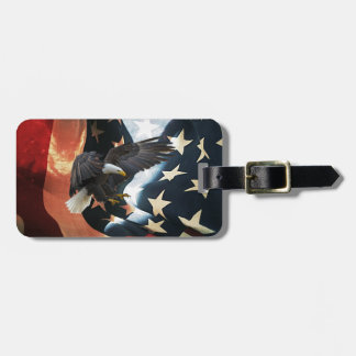 American Flag and Eagle Luggage tag
