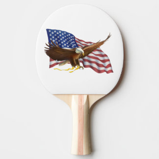 American Flag and Eagle Ping Pong Paddle