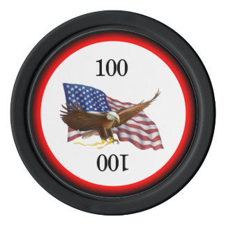 American Flag and Eagle Poker Chips