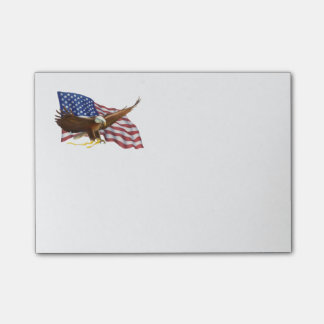 American Flag and Eagle Post-it Notes
