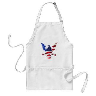 American Flag And Eagle Standard Apron