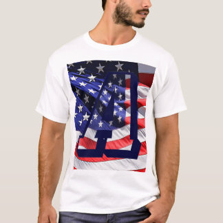 """American Flag and Letter """"A"""" T-Shirt"""