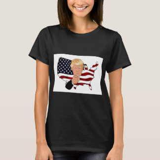 American flag and president Trump T-Shirt