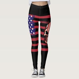 American Flag and Skull Leggings