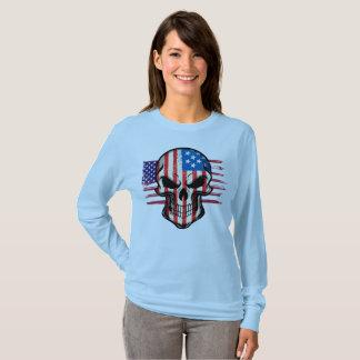 American Flag and Skull T-Shirt
