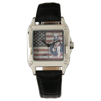 American Flag and Uncle Sam Wristwatches
