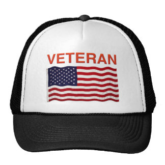 American Flag and VETERAN design on products Trucker Hat