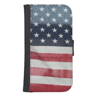 American Flag At The Sussex County Fair Samsung S4 Wallet Case