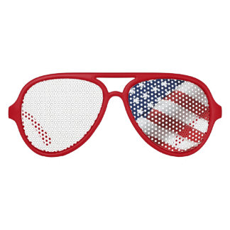 American Flag Aviator Party Sunglasses