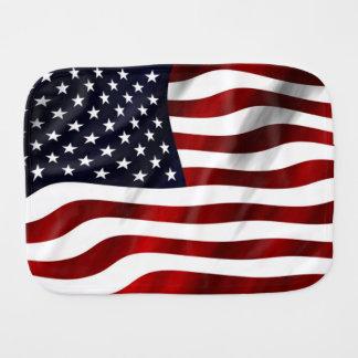 American Flag Baby Burp Cloths