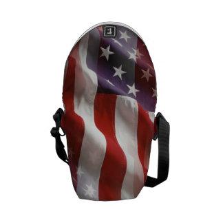 American Flag Back Pack Messenger Bags