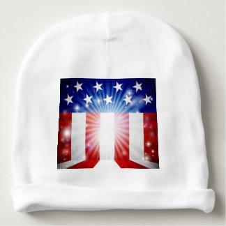 American Flag Background Baby Beanie