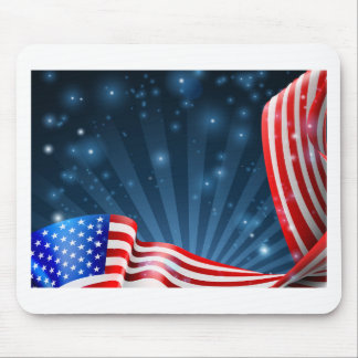 American Flag Background Design Mouse Pad