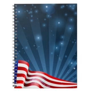 American Flag Background Design Notebooks