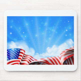 American Flag Background Mouse Pad