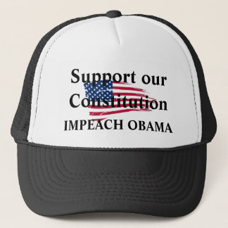 American_flag_background, Support our Constitut... Trucker Hat