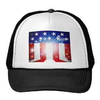 American Flag Background Trucker Hat