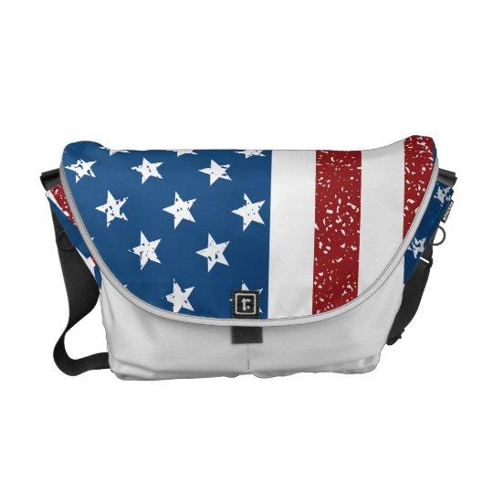 American Flag Bag Messenger Bag