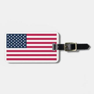 American-Flag Bag Tag