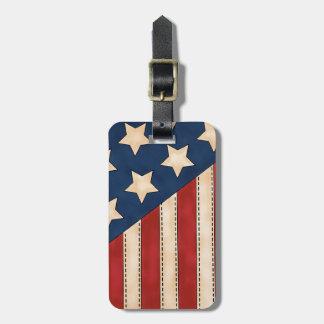 American Flag Bag Tags
