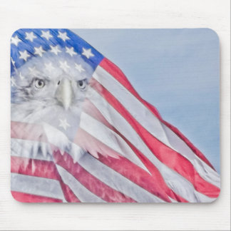 American Flag & Bald Eagle ~ Mouse Pad
