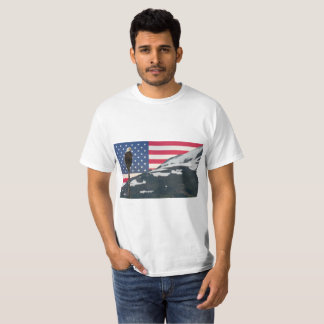 American Flag Bald Eagle  t shirt