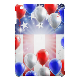 American Flag Balloons Background Design Cover For The iPad Mini