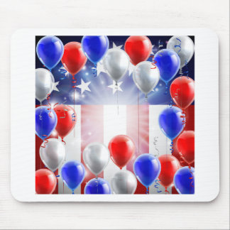 American Flag Balloons Background Design Mouse Pad