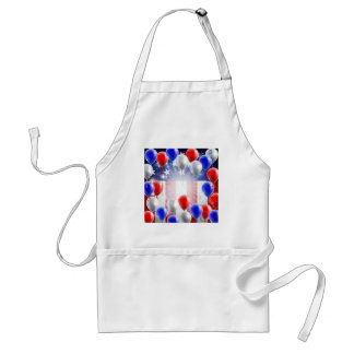 American Flag Balloons Background Design Standard Apron