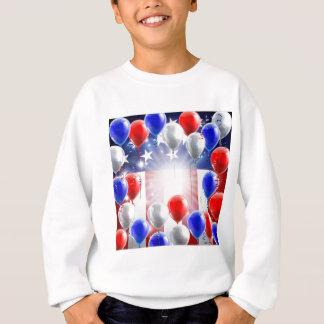 American Flag Balloons Background Design Sweatshirt