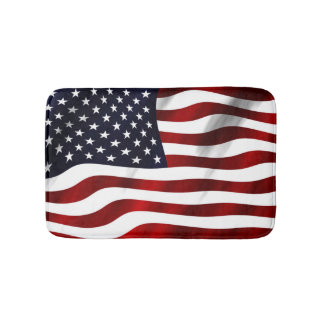American Flag Bathroom Mat