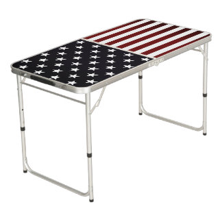 American Flag Beer Pong Table | Tailgate Size