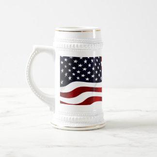 American Flag Beer Stein
