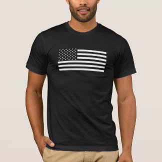 American Flag - Black and White Version T-Shirt