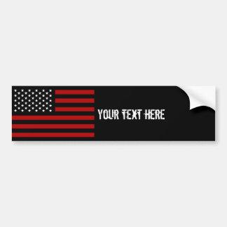 American Flag Black Red White Car Bumper Sticker
