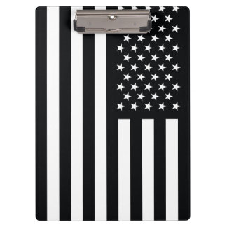 American Flag Black White Clipboards
