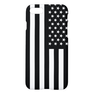 American Flag Black White iPhone 7 Case