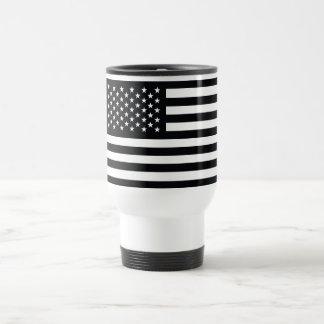 American Flag Black White Coffee Mugs