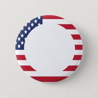 American Flag Border custom text 2 Inch Round Button